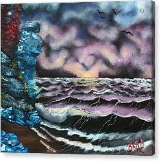 Purple Rising Acrylic Print by Barbara Teller
