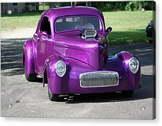 Purple Rod Acrylic Print by Jim Simms