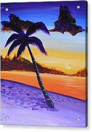 Purple Sand Palm Tree Acrylic Print