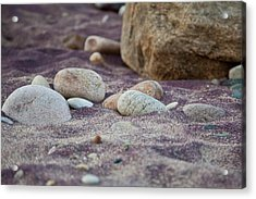 Purple Sand Acrylic Print