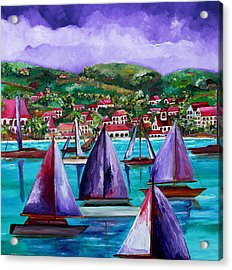 Purple Skies Over St. John Acrylic Print by Patti Schermerhorn