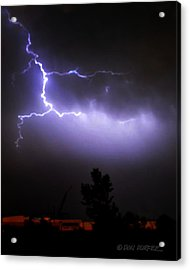 Acrylic Print featuring the photograph Purple Sky Lightening by Don Durfee