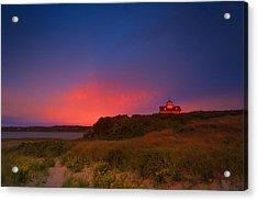 Purple Sky Over Coast Guard Eastham Acrylic Print by Dapixara Art