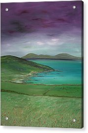 Purple Sky Over Donegal Acrylic Print by Maurice Noble