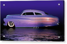 Purple Sled Acrylic Print