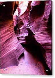 Acrylic Print featuring the photograph Purple Slot Canyon - Tall by Stephen Holst