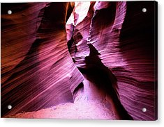 Acrylic Print featuring the photograph Purple Slot Canyon - Wide by Stephen Holst