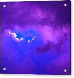 Purple Storm Acrylic Print by Gwyn Newcombe