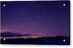 Purple Sunset Over Beach  Acrylic Print