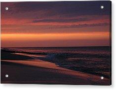 Purple Sunset Acrylic Print by See Me Beautiful Photography