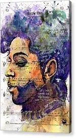 Purple Tears Acrylic Print