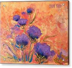 Purple Thistles Acrylic Print