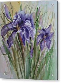Purple Times 3 Acrylic Print