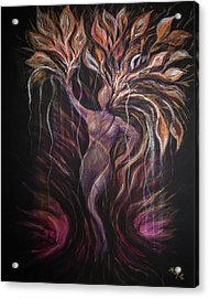Purple Tree Goddess Acrylic Print