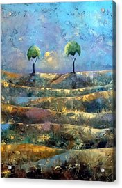 Purple Trees Acrylic Print
