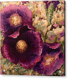 Purple Trio-flowers Acrylic Print