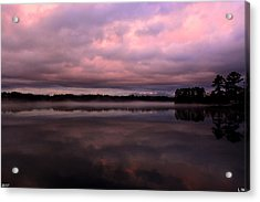Purple Twilight Acrylic Print by Lisa Wooten