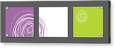 Purple Twirl Acrylic Print by Nomi Elboim
