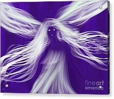 Purple Woods Faerie Acrylic Print