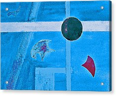 Purposphere Gone Blue Acrylic Print