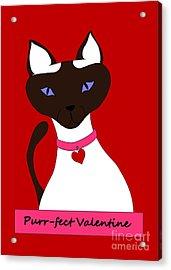 Purr-fect Valentine Acrylic Print