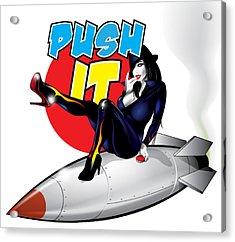 Push It Acrylic Print by Brian Gibbs