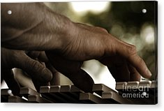Pushing Sound Acrylic Print by Steven Digman