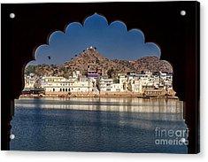 Acrylic Print featuring the photograph Pushkar Lake by Yew Kwang