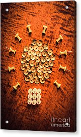 Pushpins Arranged In Light Bulb Icon Acrylic Print
