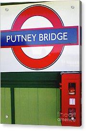 Acrylic Print featuring the photograph Putney Bridge by Rebecca Harman