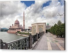 Putra Mosque Acrylic Print by David Gn