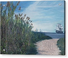 Putting Out To Sea Acrylic Print