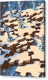 Puzzle Of Mysteries And Strategy Acrylic Print by Jorgo Photography - Wall Art Gallery