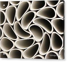 Pvc Pipe Twirl Acrylic Print