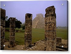 Pyramid At Chichen Itza Acrylic Print by Cliff Wassmann
