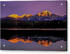 Acrylic Print featuring the photograph Pyramid Mountain 2006 01 by Jim Dollar