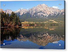 Pyramid Mountain And Pyramid Lake 2 Acrylic Print