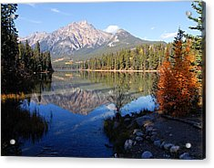 Pyramid Moutain Reflection Acrylic Print
