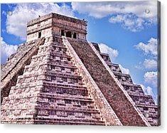 Pyramid Of Kukulcan At Chichen Itza Acrylic Print
