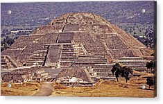 Pyramid Of The Sun - Teotihuacan Acrylic Print by Juergen Weiss