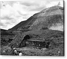 Pyramid Of The Sun, In The Pre-aztec Acrylic Print by Everett