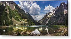 Pyramid Peak, Maroon Bells, And Crater Lake Panorama Acrylic Print