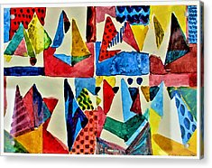 Acrylic Print featuring the digital art Pyramid Play by Mindy Newman