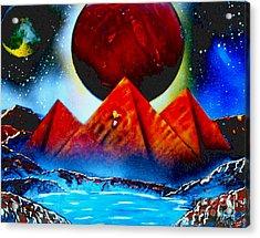 Pyramids 4663 E Acrylic Print