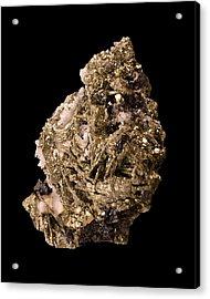 Pyrite With Quartz Acrylic Print