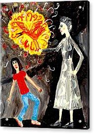 Pyro The Firebird Acrylic Print by Sushila Burgess