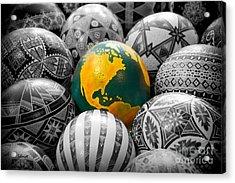 Pysanky World Acrylic Print