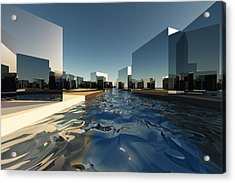 Q-city Two Acrylic Print by Max Steinwald