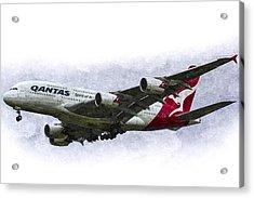 Qantas Airbus A380 Art Acrylic Print