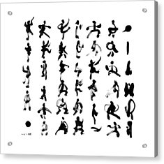 Qi Acrylic Print